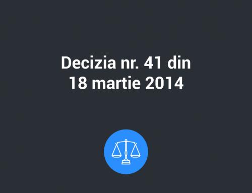 Decizia Nr. 41 din 18 martie 2014