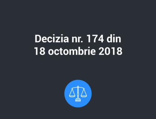 Decizia nr. 174 din 18 octombrie 2018 privind lista operatiunilor pentru care este obligatorie realizarea evaluarii impactului asupra protectiei datelor cu caracter personal