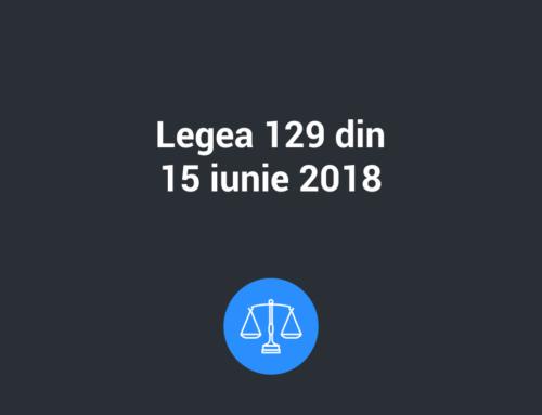 Legea nr. 129 din 15 iunie 2018 pentru modificarea şi completarea Legii nr. 102/2005 şi pentru abrogarea Legii nr. 677/2001